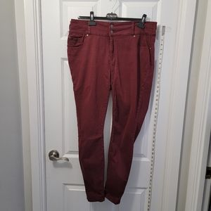 Warehouse One - Stretch Jeans Velour Texter